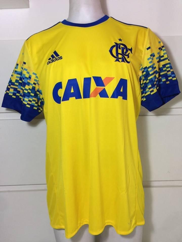 Camisa Original Flamengo adidas 2017 Amarela Com Patrocinio - R  152 ... 446235de8e73f