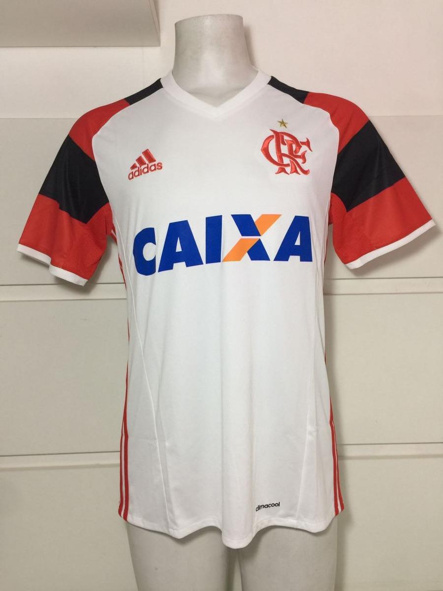 camisa original flamengo adidas branca jogo 2 2016. Carregando zoom. 97337e6da0b45