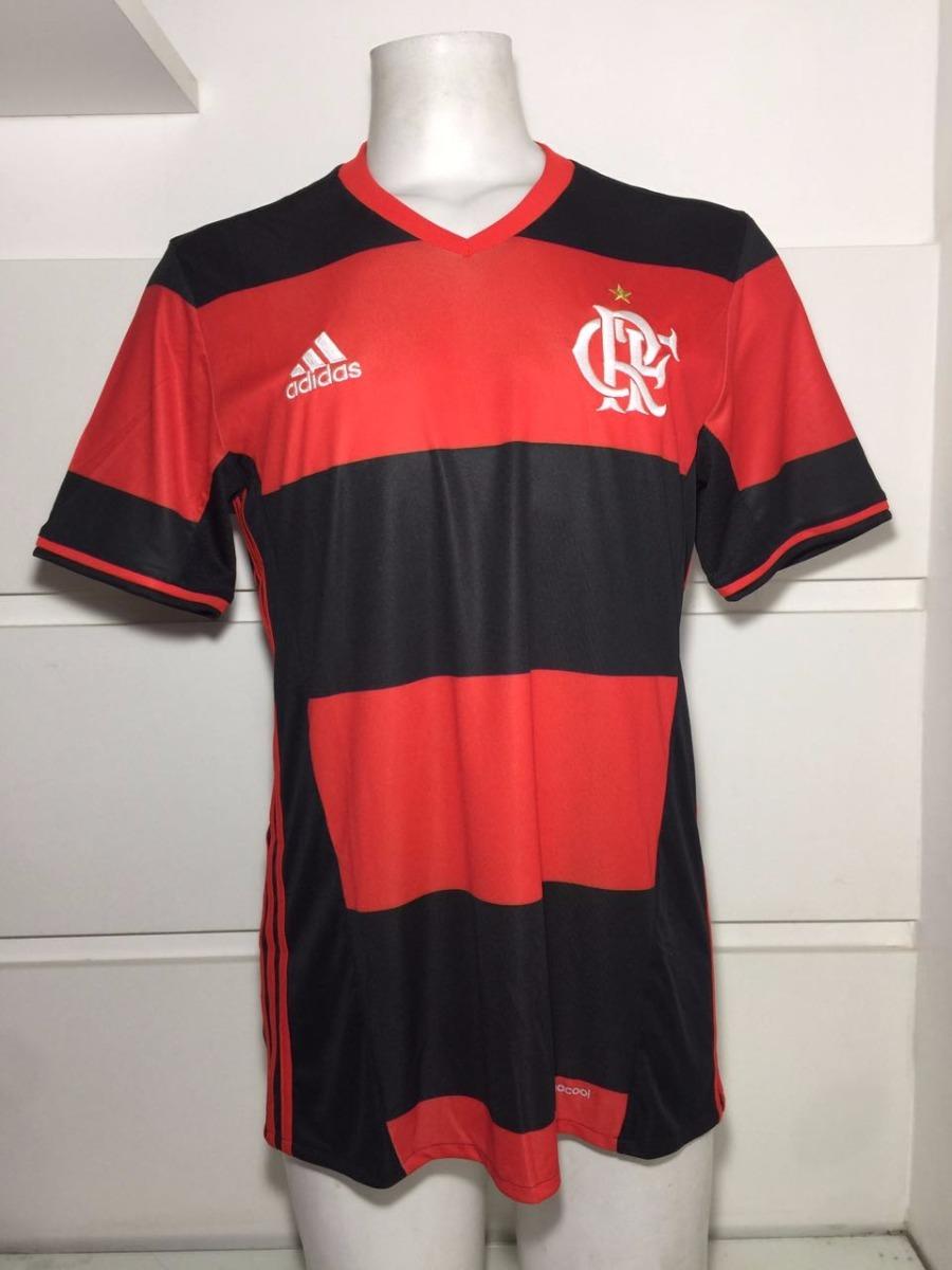 93038b125e641 Camisa Original Flamengo adidas Rubro-negra Jogo 1 2016 2017 - R ...