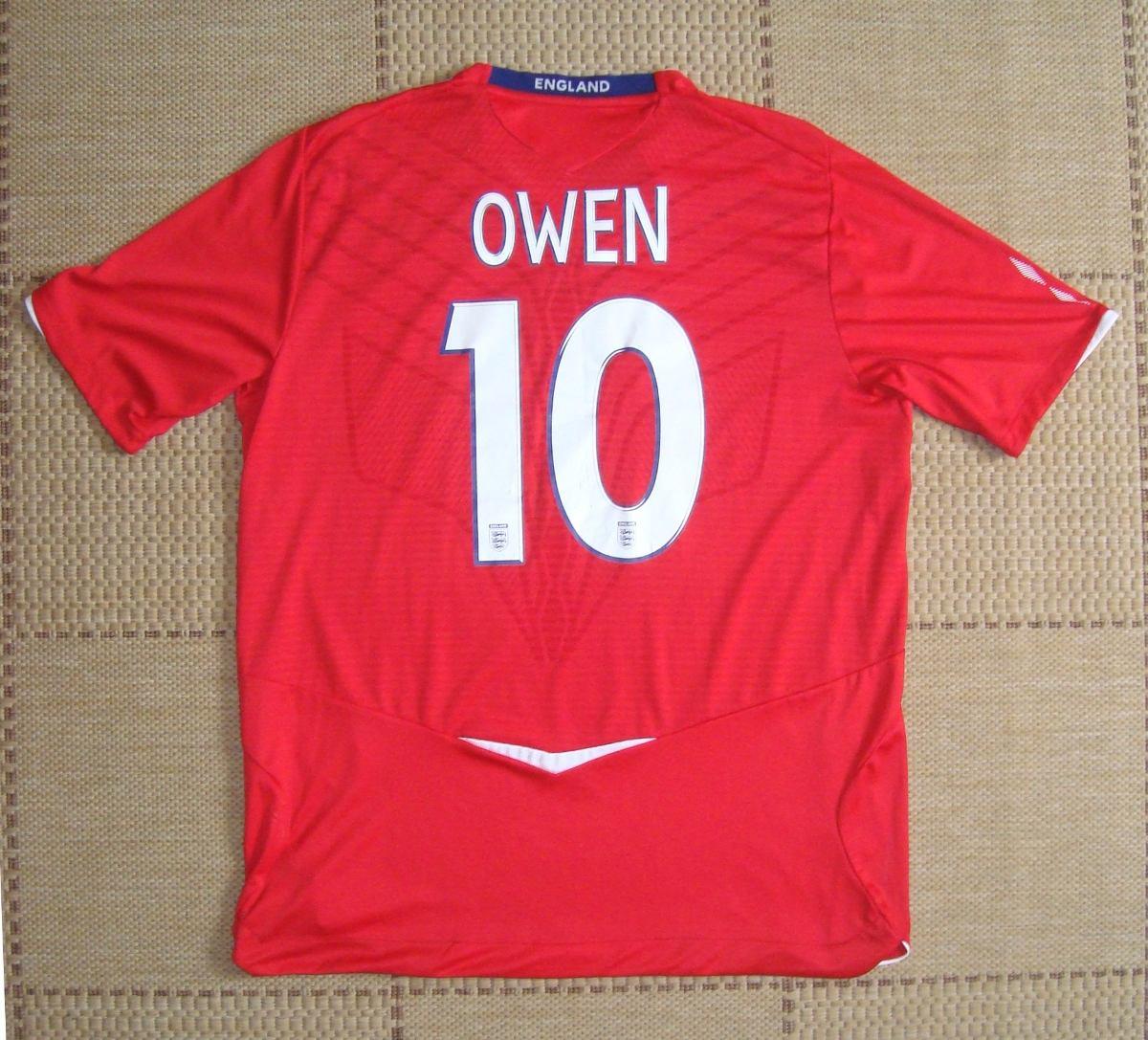 camisa original inglaterra 2008 2009 away  10 owen. Carregando zoom. dc5508e8b24fe