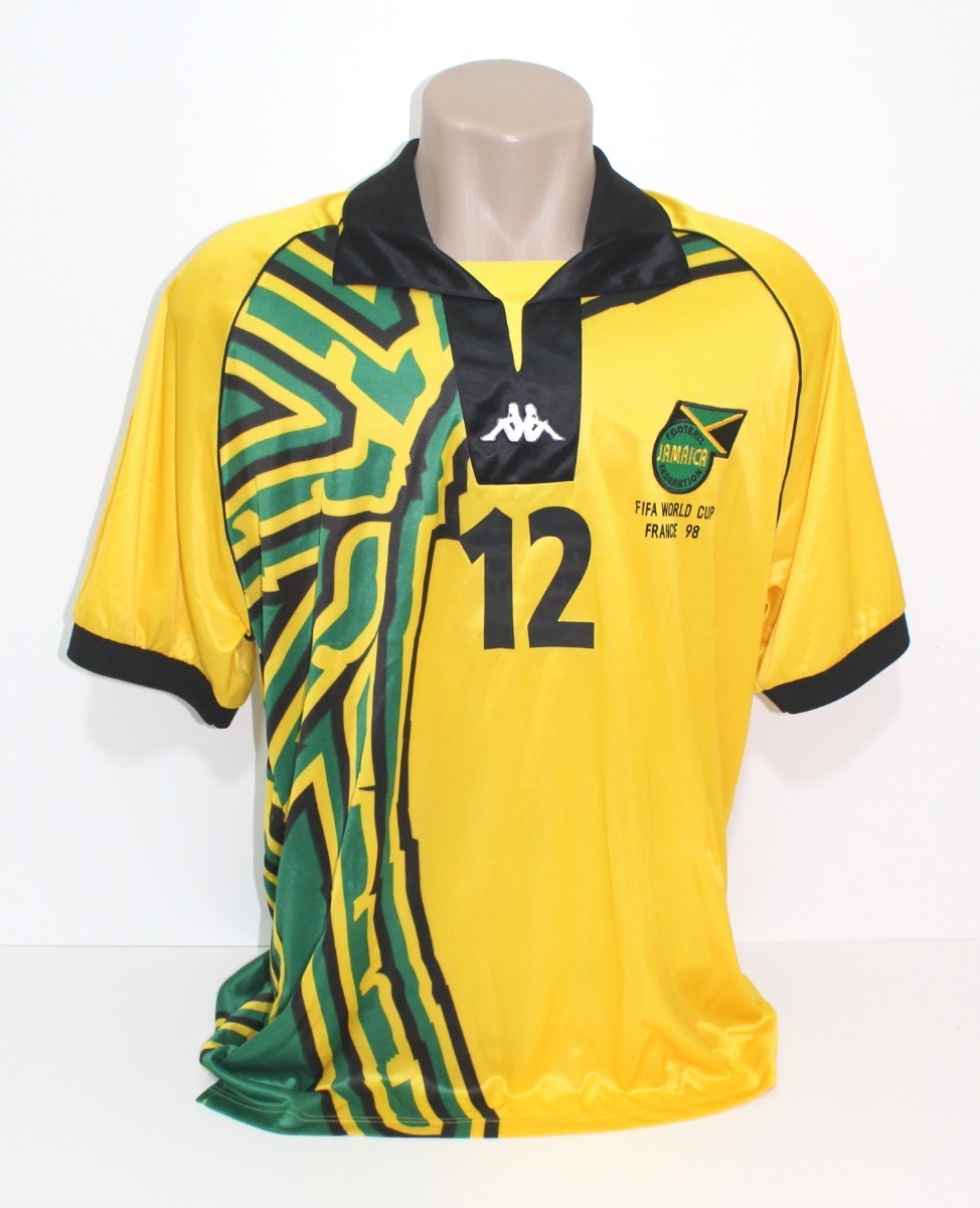 camisa original jamaica 1998 home  12 sewell. Carregando zoom. 9f09a65aff78b