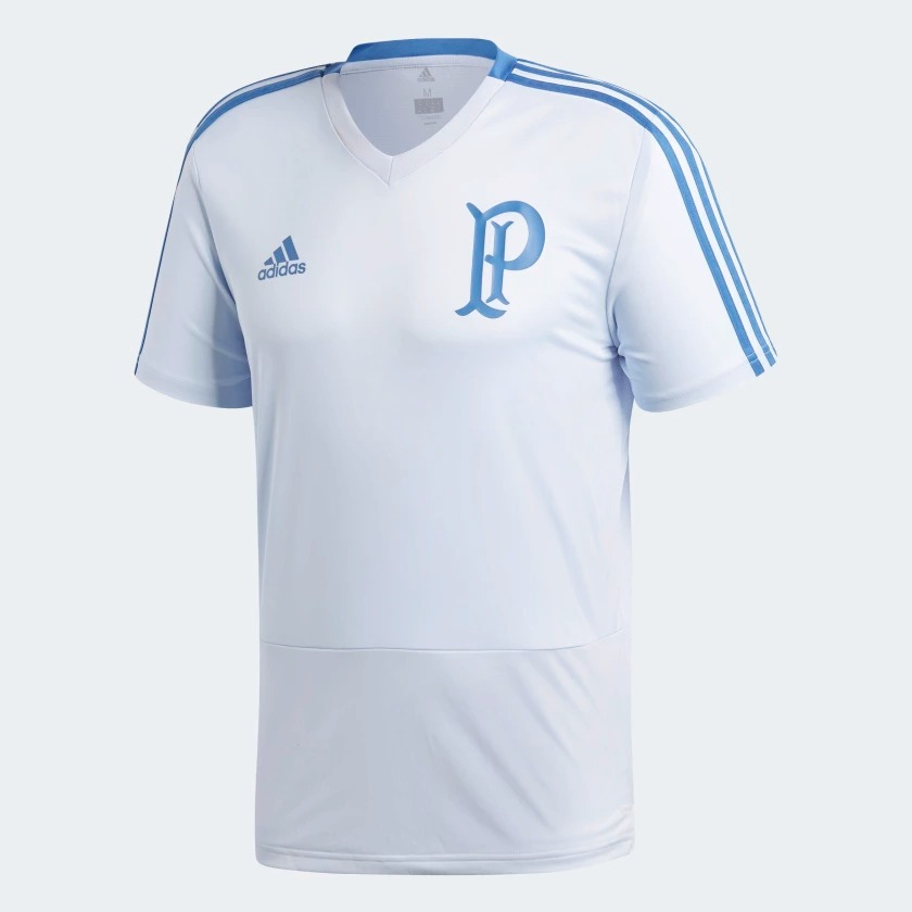 camisa original palmeiras adidas de treino 2018 azul br8162. Carregando zoom . 37ff8afb75363