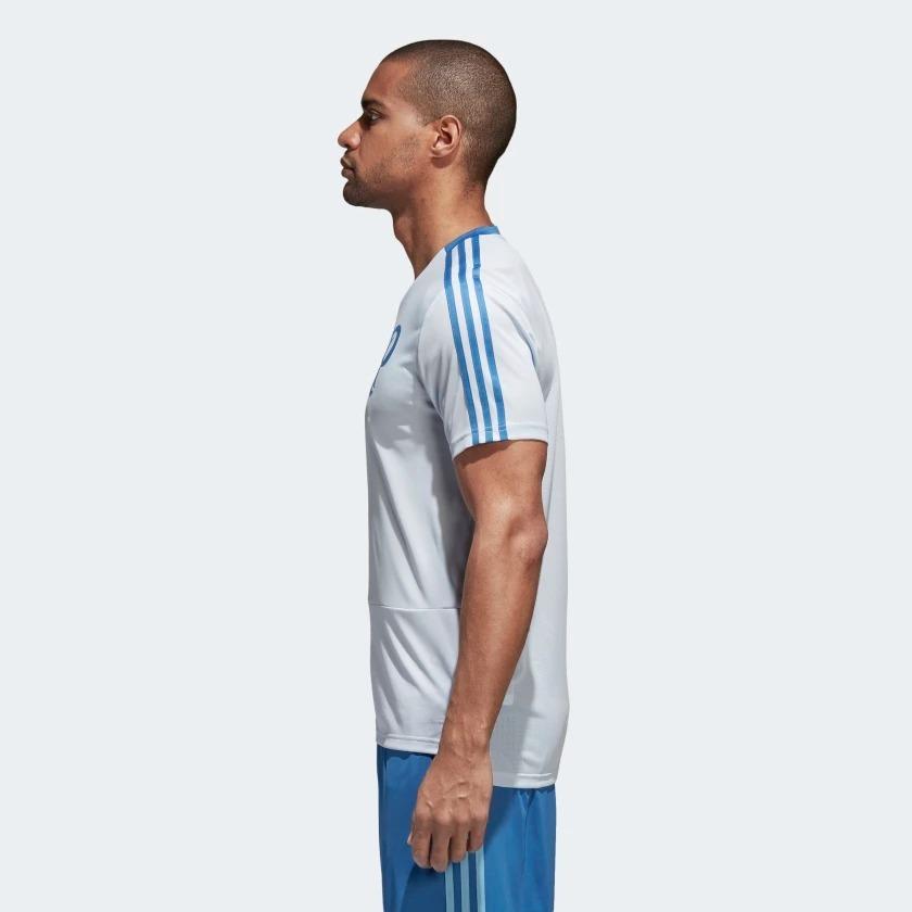 camisa original palmeiras adidas de treino 2018 azul br8162. Carregando zoom . 476cafb2c7a4c