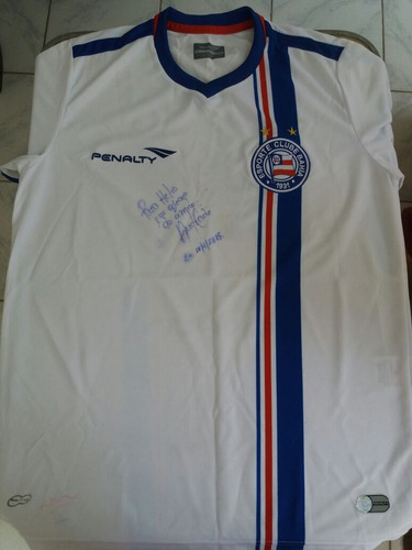 camisa original penalty do e.c.baha-autografada.