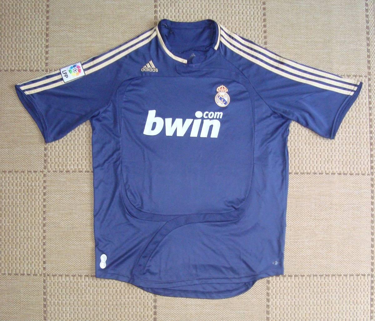 camisa original real madrid 2007 2008 away. Carregando zoom. 7dd90fb2c2820