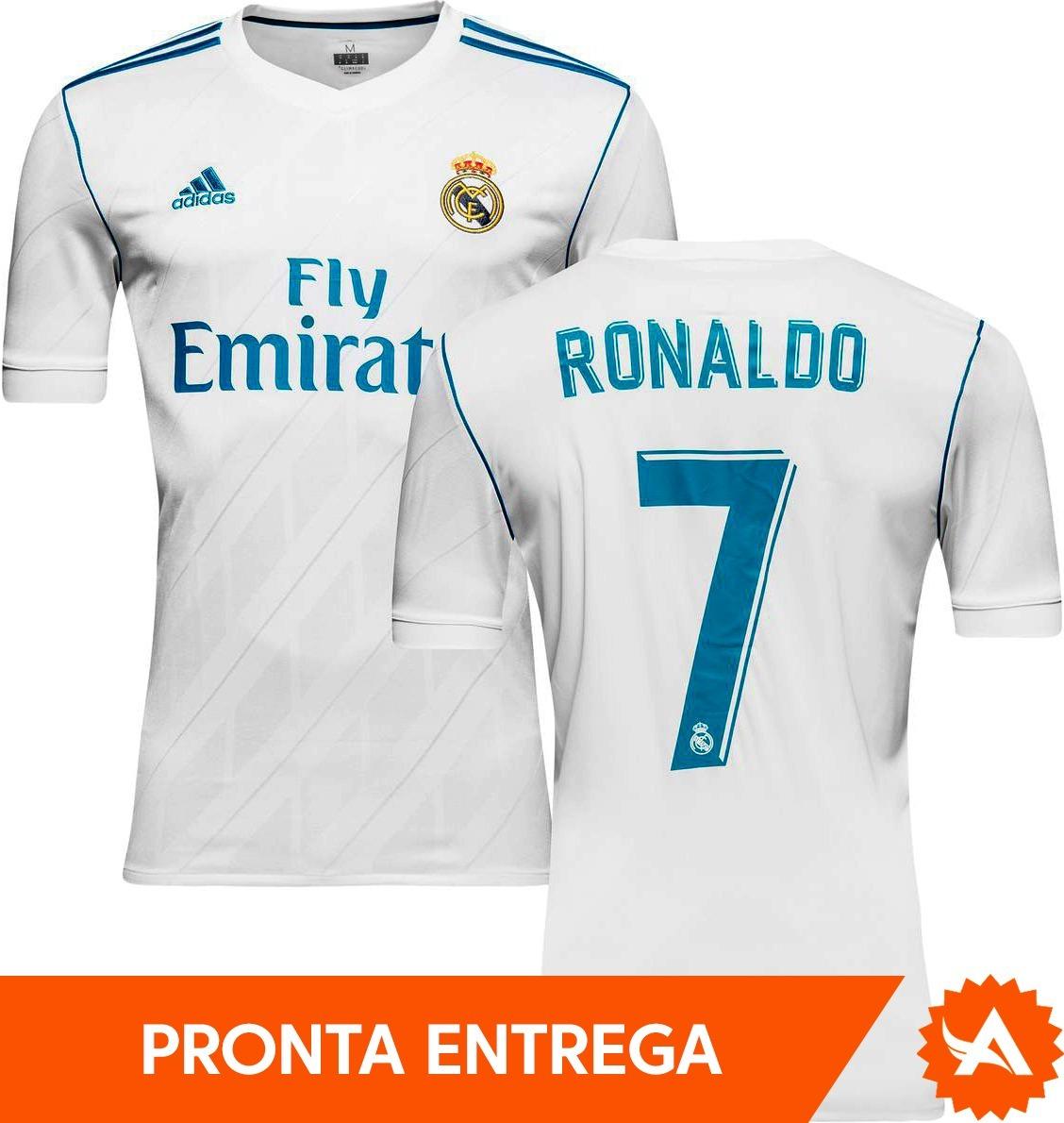 camisa original real madrid adidas home 2018 - nº7 ronaldo. Carregando zoom. 05ebd6ab28748