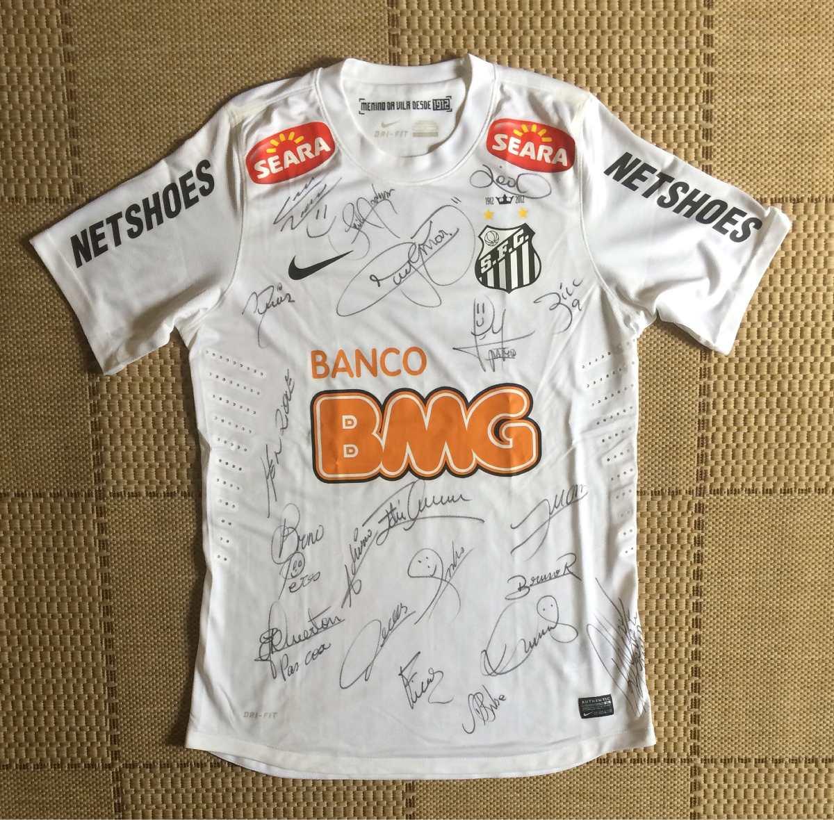 camisa original santos 2012 de jogo autografada. Carregando zoom. 307c0ba4bbbd9