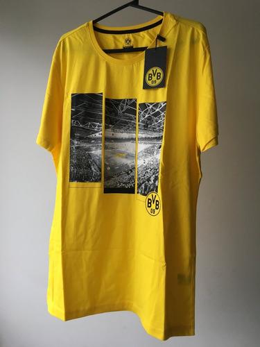 camisa original tamanho g (l) borussia dortmund (amarela)