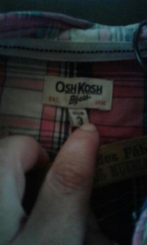 camisa oshkosh para nenes/niños escocesa impecable