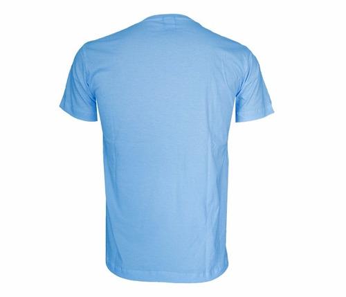camisa osklen azul manga curta