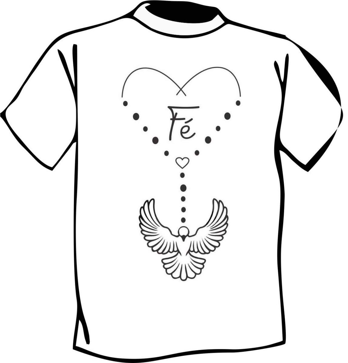 50237eeb6 Camisa Ou Baby Look Estampa Religiosa Fé - R$ 23,00 em Mercado Livre