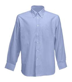 3ac9d77ef8f3 Camisa Oxford Uniforme Dotación Trabajo Azul Hombre