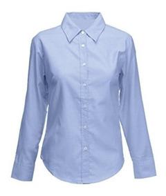 d0903a867af3 Camisa Oxford Azul Uniforme Dotación Dama Xxl
