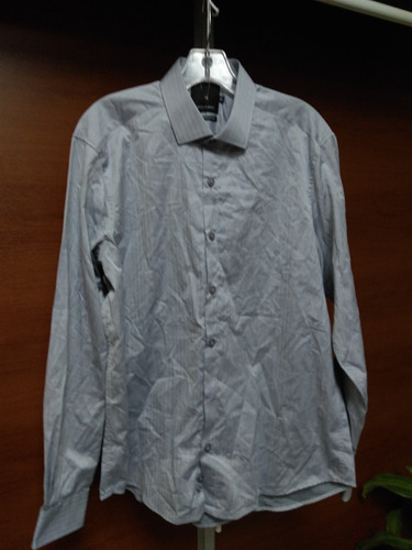 camisa paco rabanne gris llana  16 1/2 100%algodon