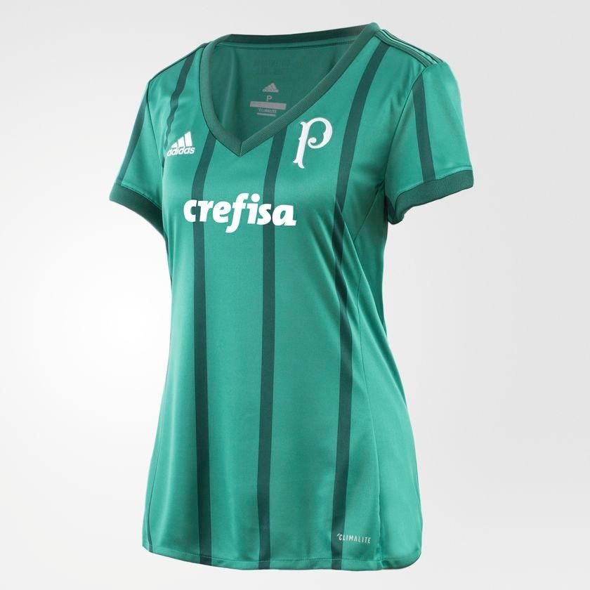 8b4407f61e4d8 camisa palmeiras 1 feminina adidas bk7495 futebol original. Carregando zoom.