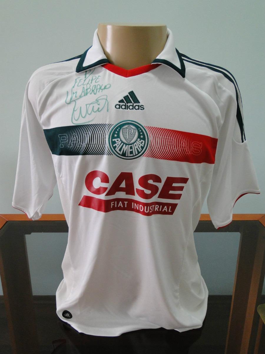 47c87cd687 Camisa Palmeiras 2009 Autografada A Mão Pelo Evair P  Felipe - R ...