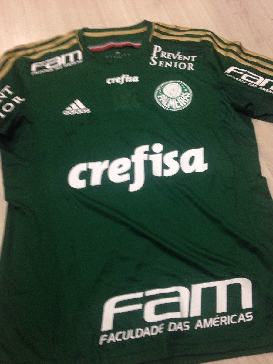 8312fcddcb Camisa Palmeiras 2015 Ademir Da Guia - Verde 10 - R  129