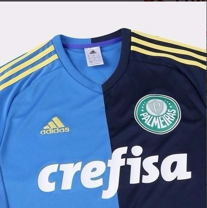 c1f52a7abf Camisa Palmeiras 2017 Uniforme Azul Promoção - R  119