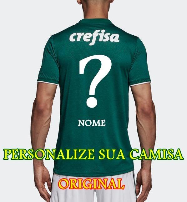 Camisa Palmeiras 2018 Personalizada Original Torcedor adidas - R ... 2103ebbc80553