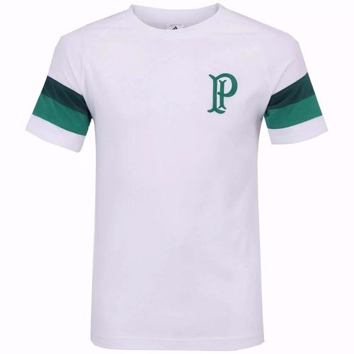 camisa palmeiras adidas algodão sf retrô branca