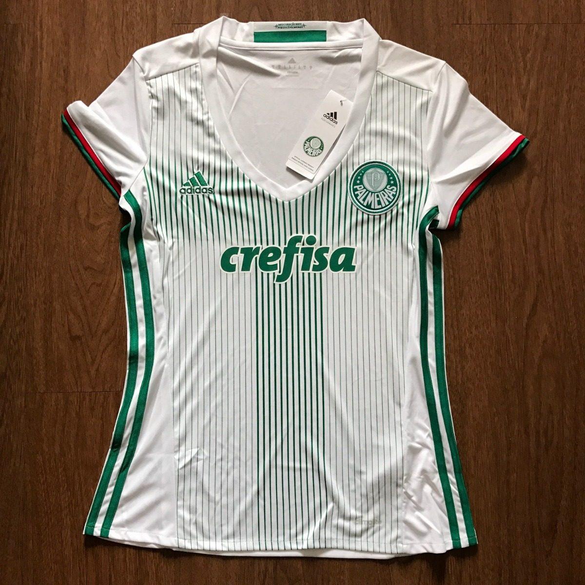 ... camisa palmeiras adidas feminina branca do título brasileiro. Carregando  zoom. 42e56776f2de7