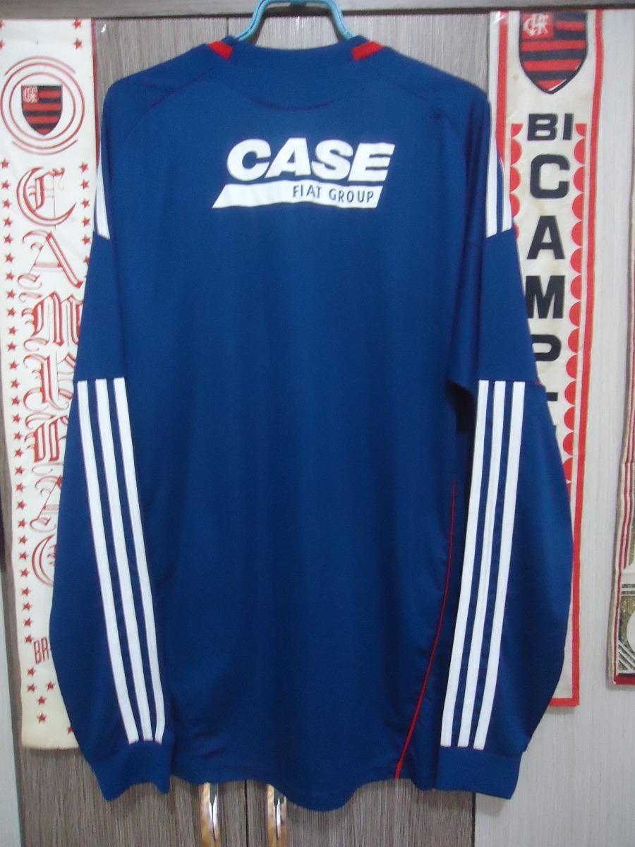 080380586c Camisa Palmeiras ( adidas   Fiat   Manga Comprida ) - R  160