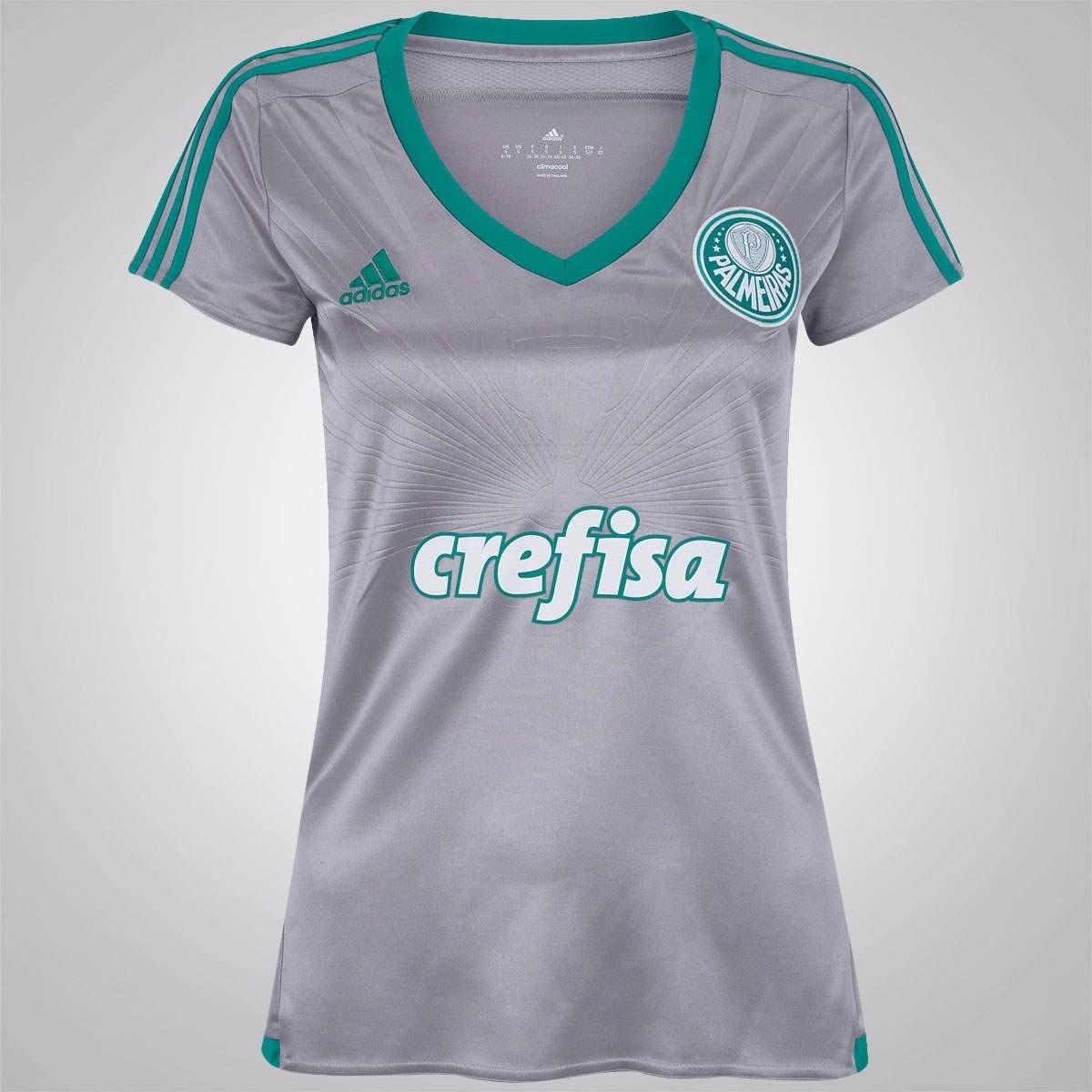 4994ef0a288 Camisa Palmeiras adidas Iii - 2015   2016 S nº - Feminina - R  157 ...