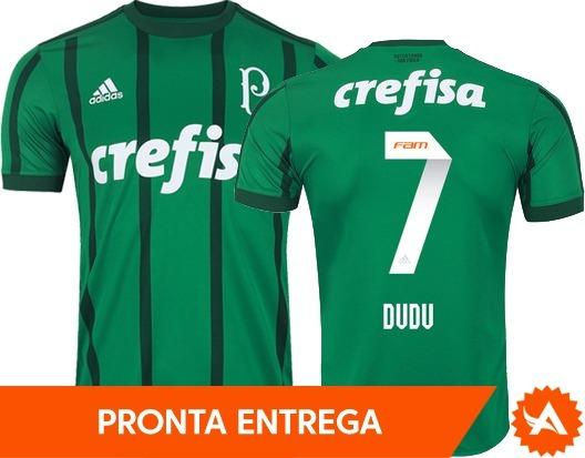 04785f034e Camisa Palmeiras adidas Original Home 2017 - Nº7 Dudu - R  169