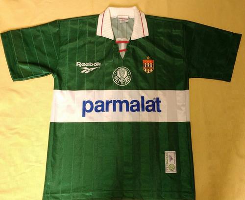 camisa palmeiras antiga parmalat reebok djalminha 1996 - 96
