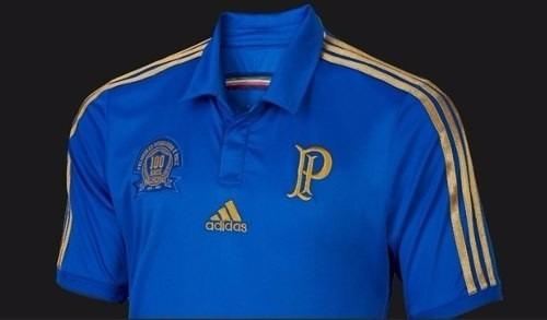 45e752259e Camisa Palmeiras Azul Centenario 2014 adidas C  Nota Fiscal! - R ...