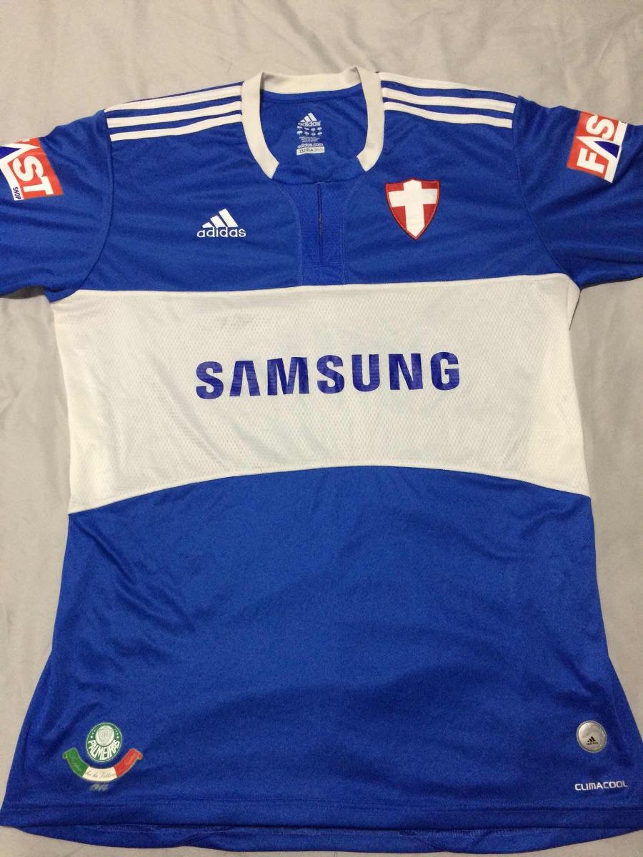 camisa palmeiras azul original adidas cruz savoia 2009. Carregando zoom. b239b00f03677