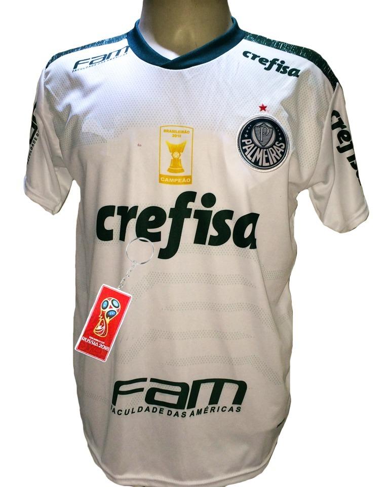 87b57edf508e3 Camisa Palmeiras Branca Nova Goulart 2019 Maior Campeão Br - R  29 ...