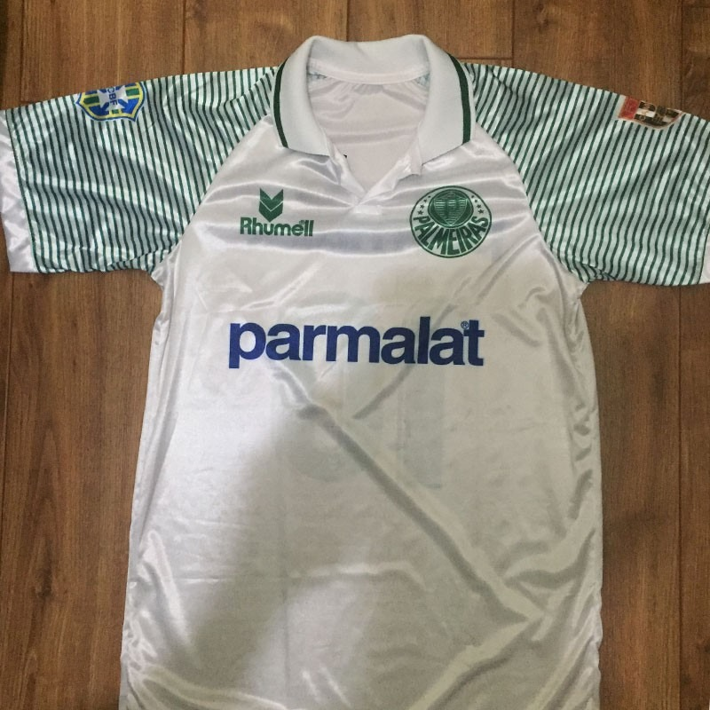 camisa palmeiras branca - parmalat - 1993 - retrô. Carregando zoom. 3e86bcdd7b734