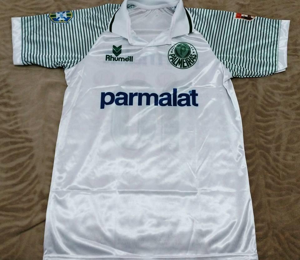 camisa palmeiras branca retro ii 1993 parmalat rhumel. Carregando zoom. b793d65be2dd5