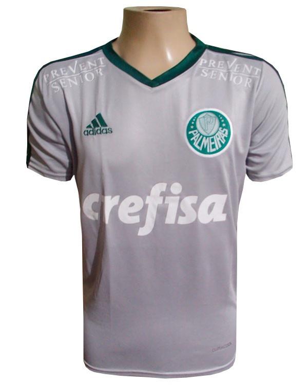 df7b8e2278 Camisa Palmeiras Cinza Crefisa - R  80