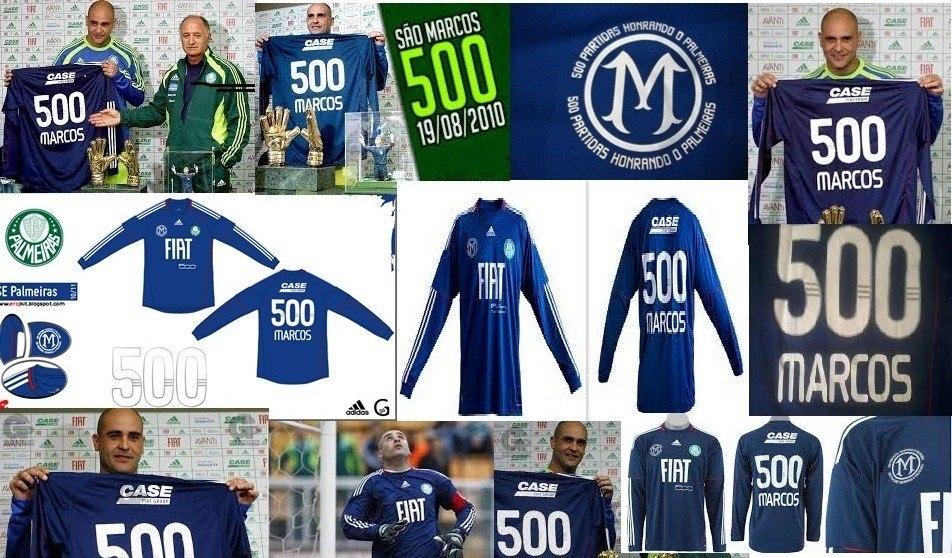 f3eececac camisa palmeiras comemorativa 500 jogos do goleiro marcos. Carregando zoom.