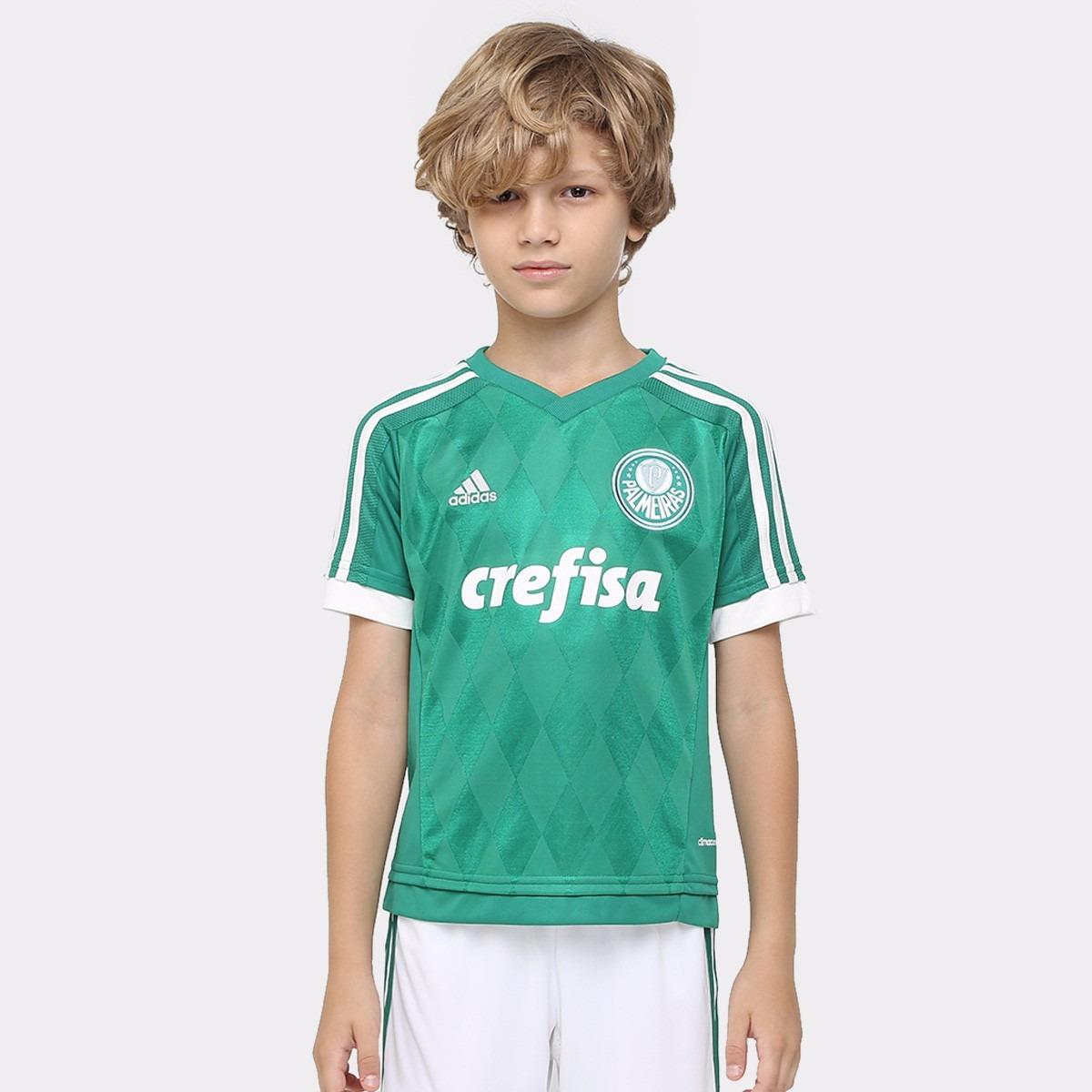 camisa palmeiras crefisa infantil oficial adidas promoção. Carregando zoom. 7cd0649521194