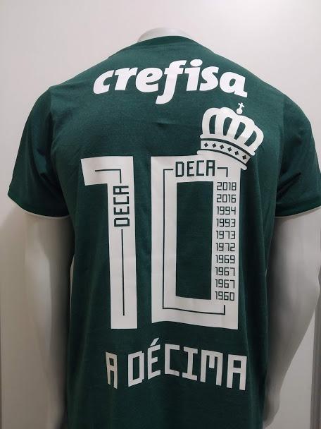 328e95e7e7c19 Camisa Palmeiras Deca Campeão Oficial - Pronta Entrega - R  180