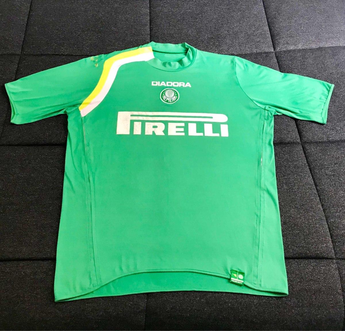camisa palmeiras diadora 2004 pirelli original. Carregando zoom. b7b54f55a6abe