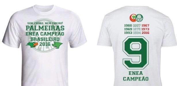 Camisa Palmeiras Enea Campeão Brasileiro - Promoçâo - R  39 10a54e2805cc5