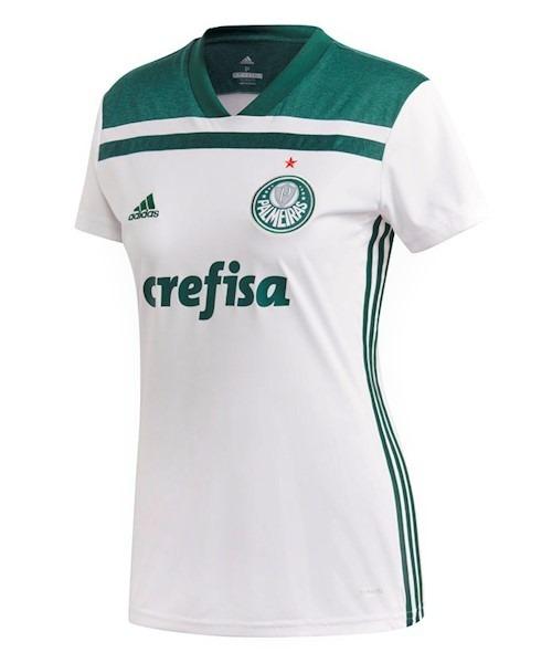 ab93ce1ddb00c Camisa Do Palmeiras Feminina 2018 Oficial - Mega Promoção - R  95