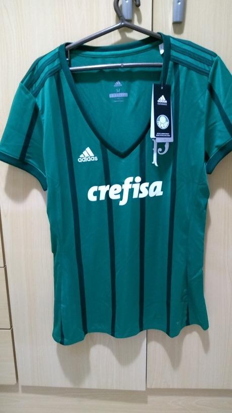 8af1aec168124 Camisa Palmeiras Feminina Original 2017 - R  139