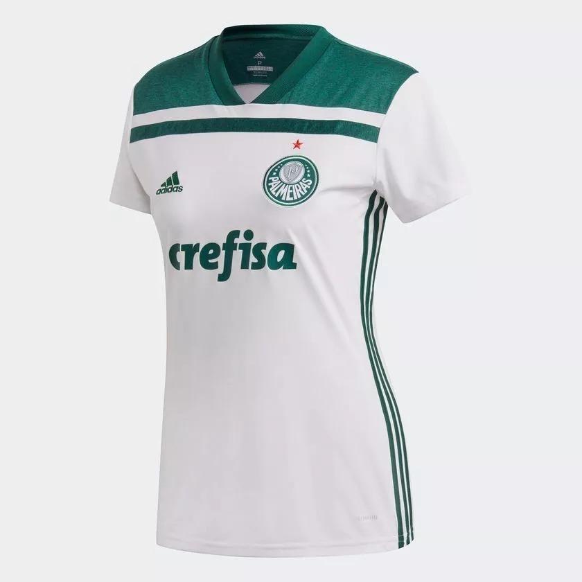 057faf90f1a3e Camisa Palmeiras Feminina 2018 Oficial + Frete Grátis - R  179