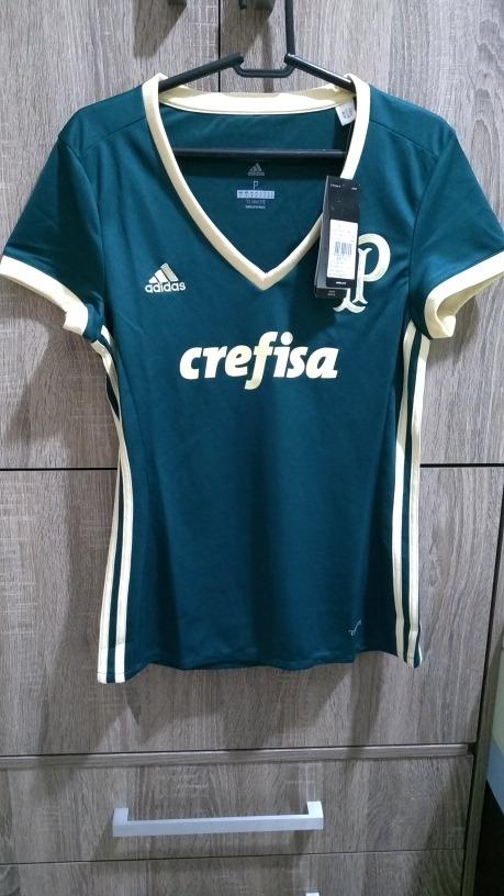 Camisa Palmeiras Oficial Feminina 2017 - R  159 c97ed231f8cbc