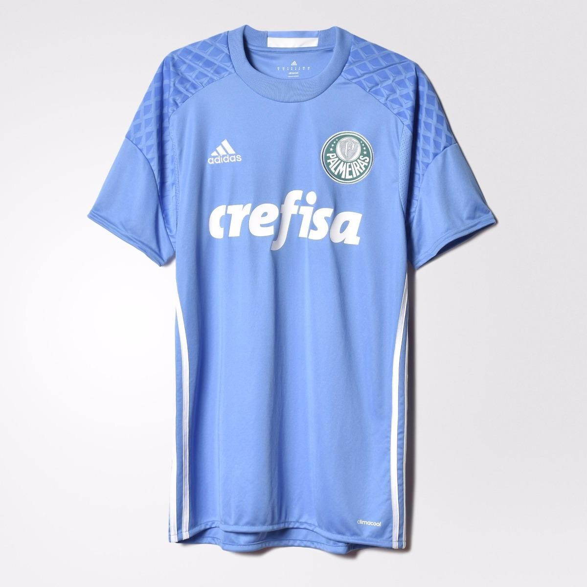 camisa palmeiras goleiro 16 17 azul original adidas original. Carregando  zoom. 402160ad14539