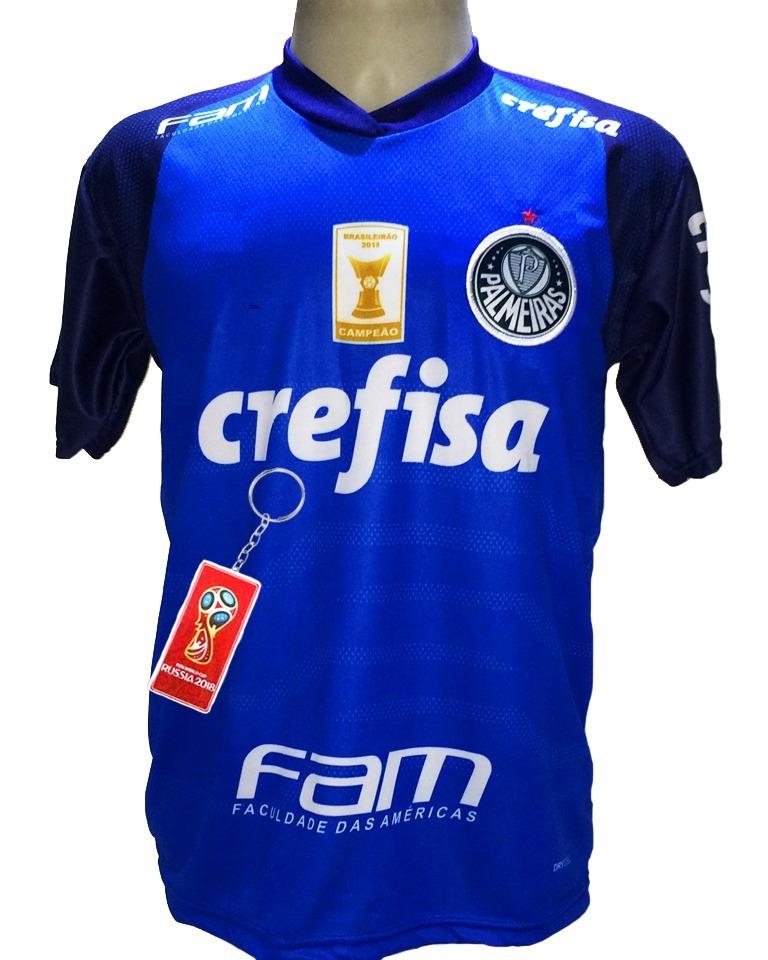 b65c27a5cf2b1 camisa palmeiras goleiro azul nova 2019 deca campeão. Carregando zoom.