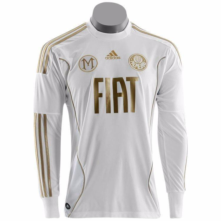 ebdad32f6 Camisa Palmeiras Goleiro Marcos Branca E Dourada Tam Gg - R  720