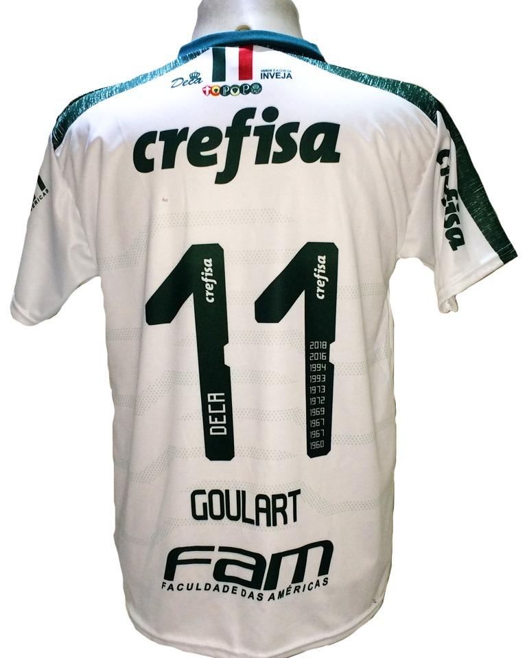 6b1224042c Camisa Palmeiras Goulart Nova Branca Escura 2019 Deca Br - R  29