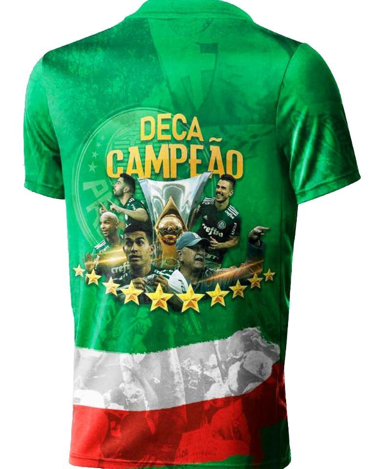 camisa palmeiras jogadores comemorativa o maior campeão br. Carregando zoom. b4cea7e1fac06