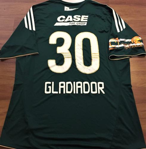 camisa palmeiras kléber gladiador 100 jogos autografada